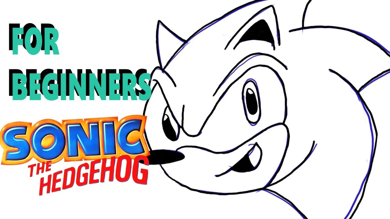 Draw Sonic The Hedgehog Face Tutorial Youtube