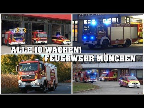 [FEUERWEHR MÜNCHEN 2017] - Einsatzfahrten ALLER 10 Feuerwachen!