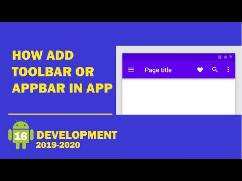 Android tutorial (2019) - 16 - How Add a Custom ActionBar (Toolbar) in Android Studio thumbnail