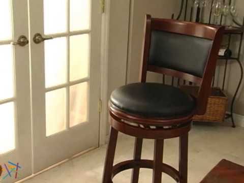 Boraam Augusta 29in Swivel Bar Stool Product Review Video