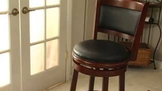 Boraam Augusta 29in Swivel Bar Stool - Product Review Video