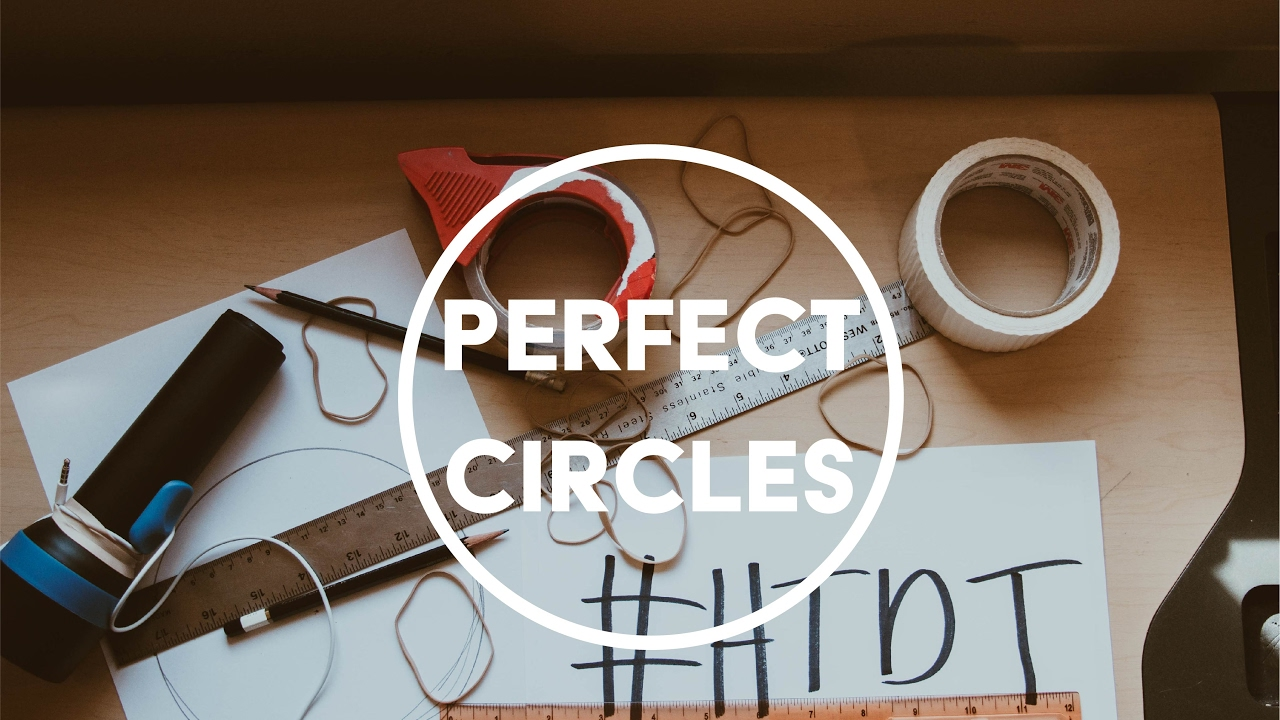 how to draw perfect circles on computer