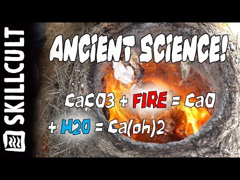 PRIMITIVE FIRE SCIENCE!  Burning Shells Into Lime In a Grass Straw & Clay Furnace