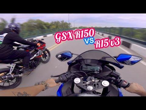 R15 V3 vs GSX R150 | HẾT GA HẾT SỐ | Vietnam motovlog