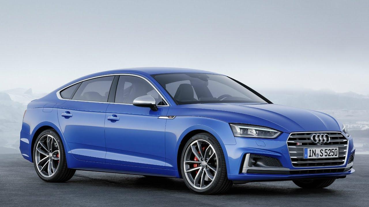 2017 Audi S5 Sportback Ara Blue Drive Interior And Exterior Youtube