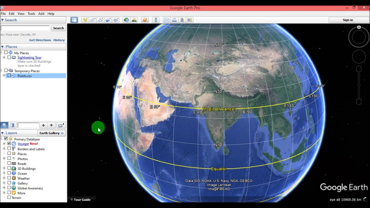 Import Coordinates into Google Earth Using Excel File
