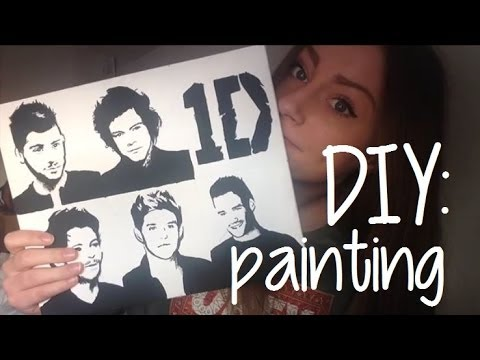 DIY One Direction pop art painting