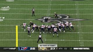 will-lutz-game-winning-58-yard-field-goal-texans-vs-saints-nfl