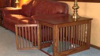 Dog Cage End Table Set Of Useful Picture Ideas | Dog Cage End Table Dogs