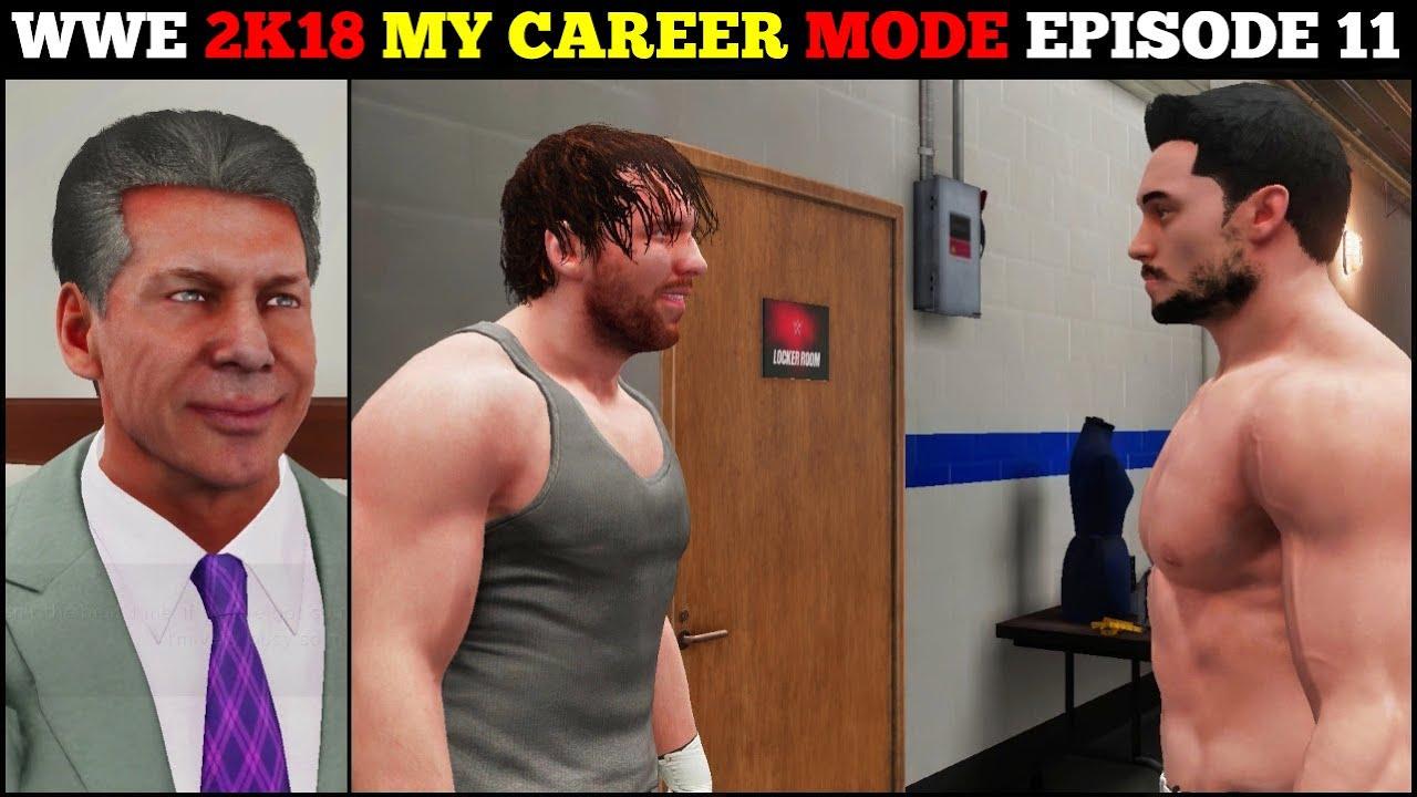 WWE 2K18 My CAREER MODE Ep.11 - Meeting DEAN AMBROSE & DRAFT To Smackdown || Episode 11