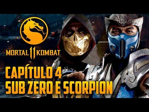 Mortal Kombat 11 Capitulo 04 - Sub Zero e Scorpion, FOGO e GELO (PT-BR PS4 PRO)