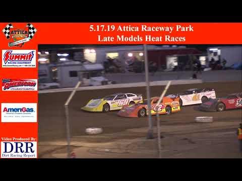 5.17.19 Attica Raceway Park Late Models Heat Races