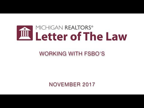 Letter of The Law: Working with FSBO's