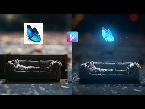 PicsArt Tutorial | How To Edit Fantasy Glowing Butterfly Miniature Photo Effect