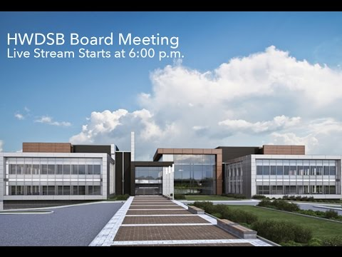 HWDSB Board Meeting - October 17, 2016