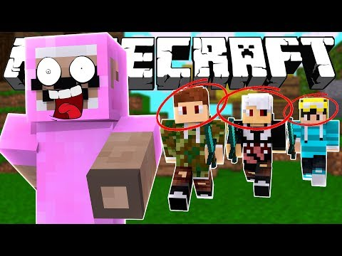 THIS ISN'T FAIR!! EVERYONE IS CHASING ME!! Minecraft BATTLE ROYALE