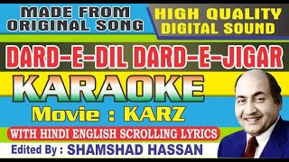 Dard E Dil Dard E Jigar Karaoke - Karz - Rishi Kapoor - Mohammad Rafi With Lyrics By Shamshad Hassan