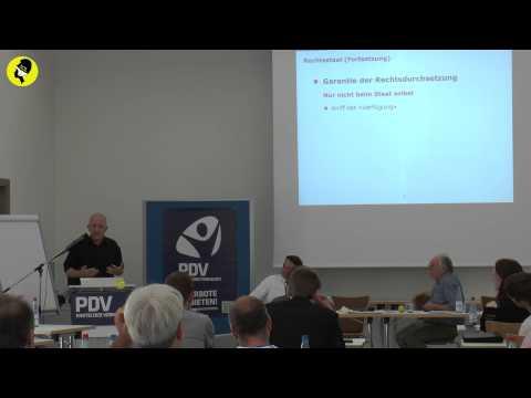 """Prof. Dr. David Dürr """"Ein vernünftiges Parteiprogramm"""""""