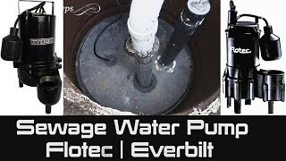 How to Replace a Sewage Water Pump yourself - DIY | Plumber | Flotec | Everbilt | Dirty Job