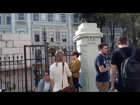 Москва 720 улица Рождественка, МАРХИ (Московский архитектурный институт) осень день