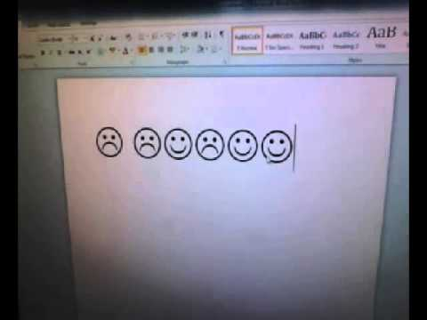 How To Make Smiley Frowny Faces On Microsoft.wmv