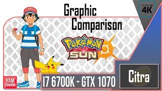 [Citra] Pokemon Sun | Graphic Comparison