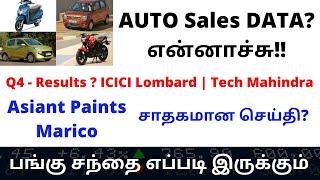 AUTO Sales DATA?என்னாச்சு!! Q4 - Results ? ICICI Lombard | Tech Mahindra |Market?| TTZ