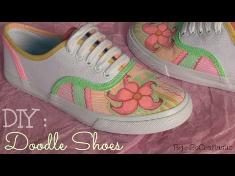 75658afd590c Doodle Shoes - CUSTOM CANVAS SNEAKERS - How To
