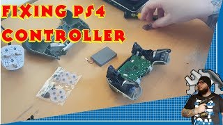 Replacing PS4 dualshock controller rubber buttons(fixing Playstation 4 controller)