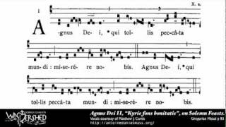 Agnus Dei II from Mass II, Gregorian Chant