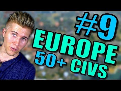 Civilization 5 Gameplay [Civ 5] Brave New World | Europe AI ONLY 50+ Civs Mods | Part 9