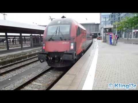 Züge in München Hauptbahnhof - Munich Central Station
