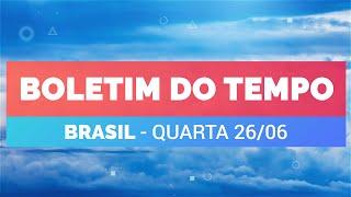 Previsão Brasil - Chuva no centro-sul do país
