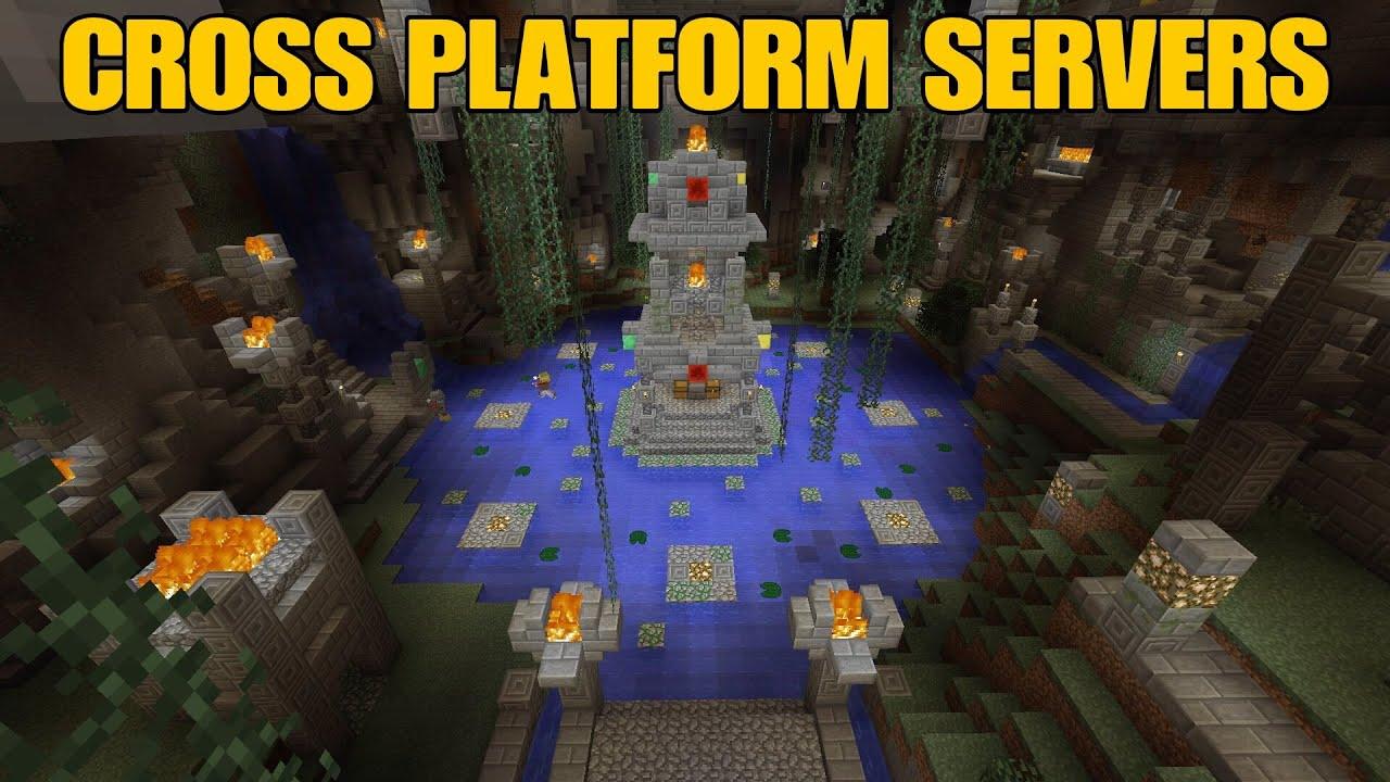 Minecraft Console Edition CROSS PLATFORM SERVERS YouTube