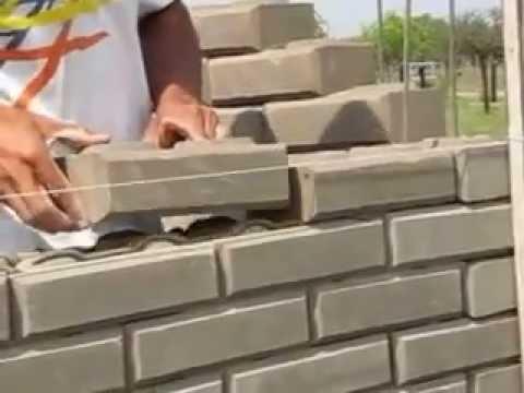 Mamposter a con ladrillos de suelo cemento youtube for Construccion de piscinas con ladrillos
