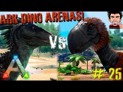 ARK Survival Evolved Terror Birds VS Raptor Batalla dinosaurios arena gameplay español