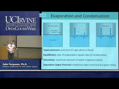 Earth System Science 1: Intro to ESS. Lecture 11. Water Vapo