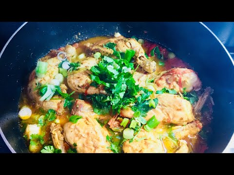 CHICKEN KARAHI RECIPE طرز تهيه افغانى كرايى مرغ