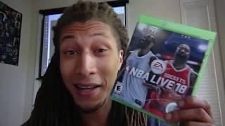 NBA LIVE 18 REVIEW 2k18 poop! same game as 2k17