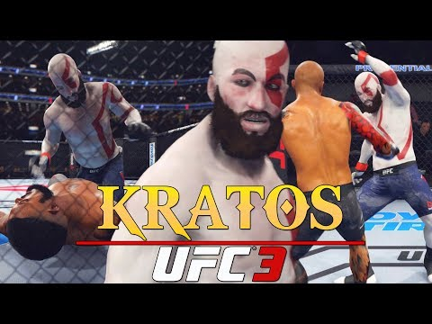 EA UFC 3: Kratos The God Of War Is Ruthless In The UFC! EA Sports UFC 3 Gameplay