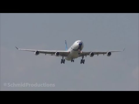 President Rohani arrives with Airbus A340 in Zürich (with live ATC)