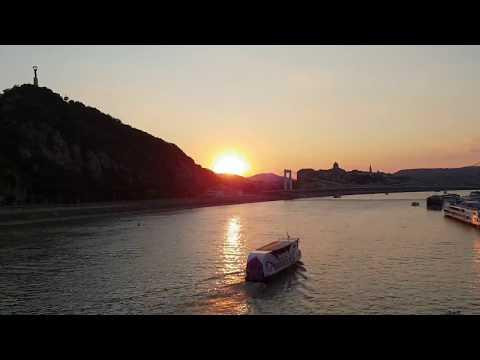 Timelapse - Hungary - Danube - Sunset - 2018.07.14