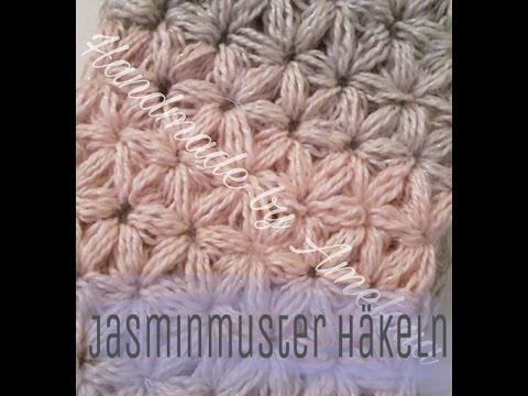 Anleitung Jasminmuster häkeln - Sternchenmuster häkeln Jasmin Muster ...