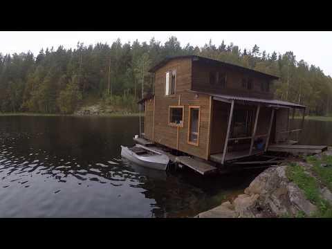 Дом в Карелии на озере - обзор дома на воде в полной глуши
