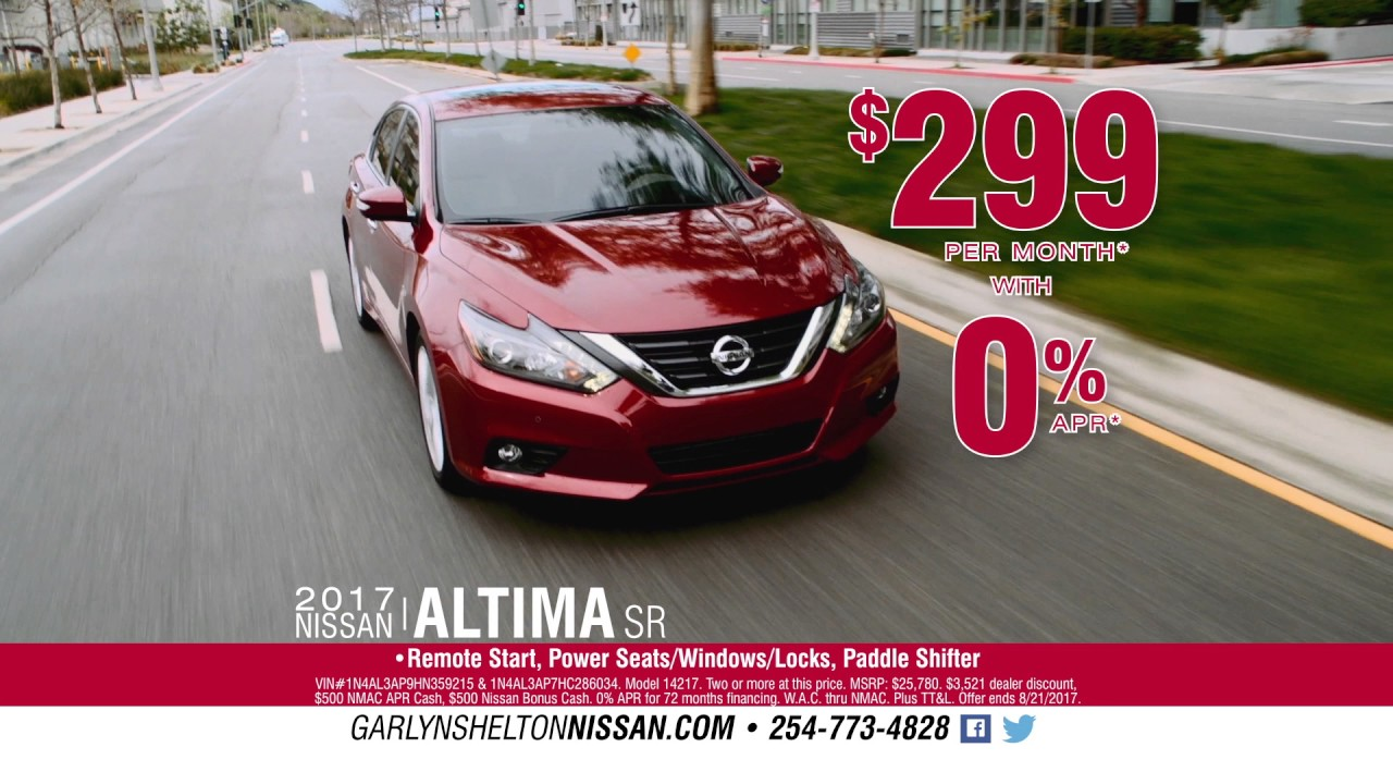 Garlyn Shelton Nissan - Aug 2017 Ad#1 - YouTube