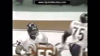 """Chicago bears william 'refrigerator"""" perry scores in super bowl xx.sports mockery's unforgettable sports moments: http://sportsmockery.com/chicago_sp..."""