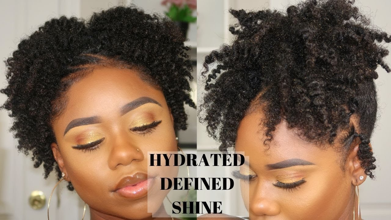 Super CUTE Hairstyle For SHORT/AWKWARD Length Natural Hair + Defined Twist  Out On 11c/b Natural Hair
