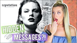 "TAYLOR SWIFT ""REPUTATION"" SECRET MESSAGES/THEORIES!"