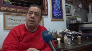بالفيديو| خضير البورسعيدي.. قصة 15 ألف لوحة فنية بالخط العربي