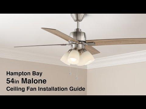 54 In. Malone Ceiling Fan Installation Guide
